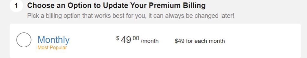 Wealthy Affiliate Monthly Price $49.00 a month no discount