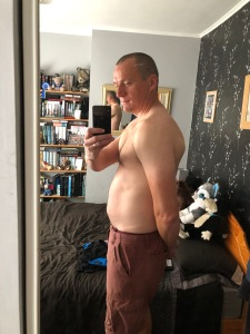 First picture before starting the combination diet plan